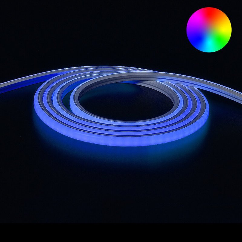 3 meter Neon Led Flex RGB Midi Top View - losse strip