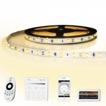 35 meter led strip Warm Wit complete set - Basic 2100 leds