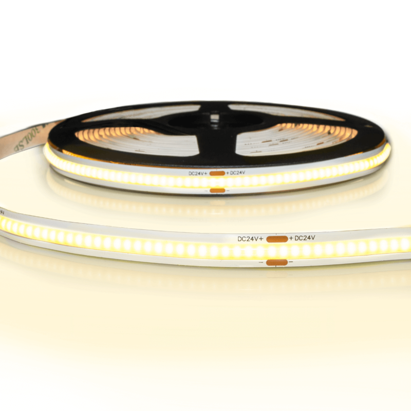5 meter COB led strip IP20 24V - Warm wit 3000K - 384 leds p/m