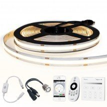 5 meter Helder Wit led strip COB met 504 leds per meter - complete set