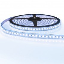 5 meter led strip IP65/67 12V of 24V - Koud wit 6500K - 120 leds p/m