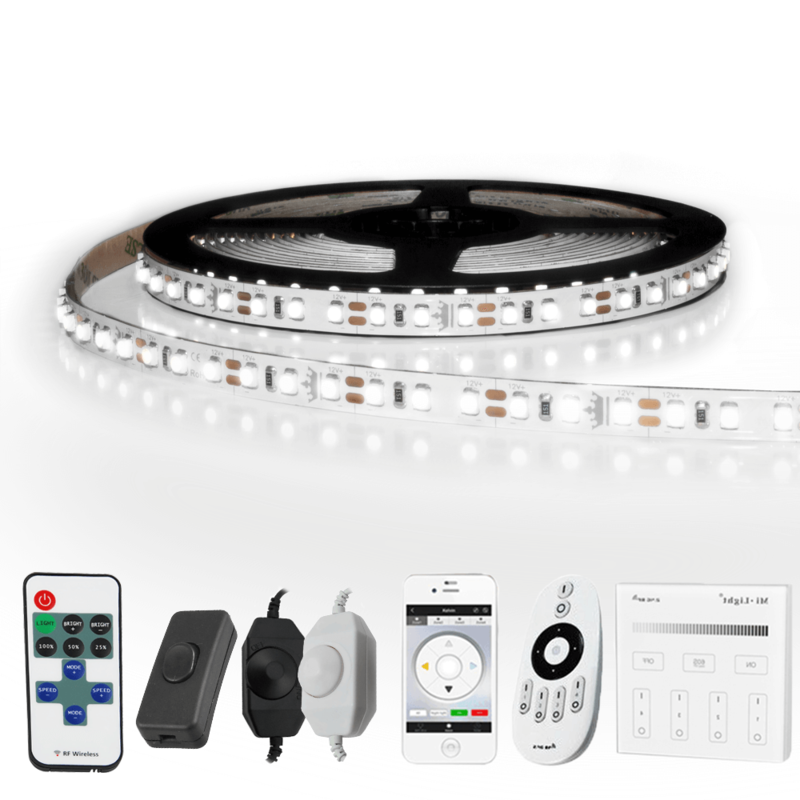7 METER - 840 LEDS complete led strip set Koud Wit
