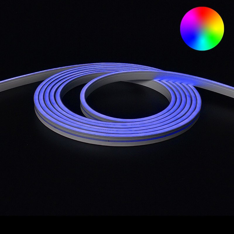 7 meter Neon Led Flex RGB Midi Recht - losse strip