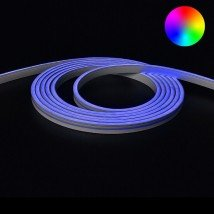 8 meter Neon Led Flex RGB Midi Recht - losse strip