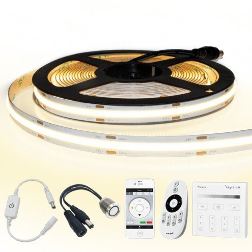 9 meter Warm Wit led strip COB met 504 leds per meter - complete set