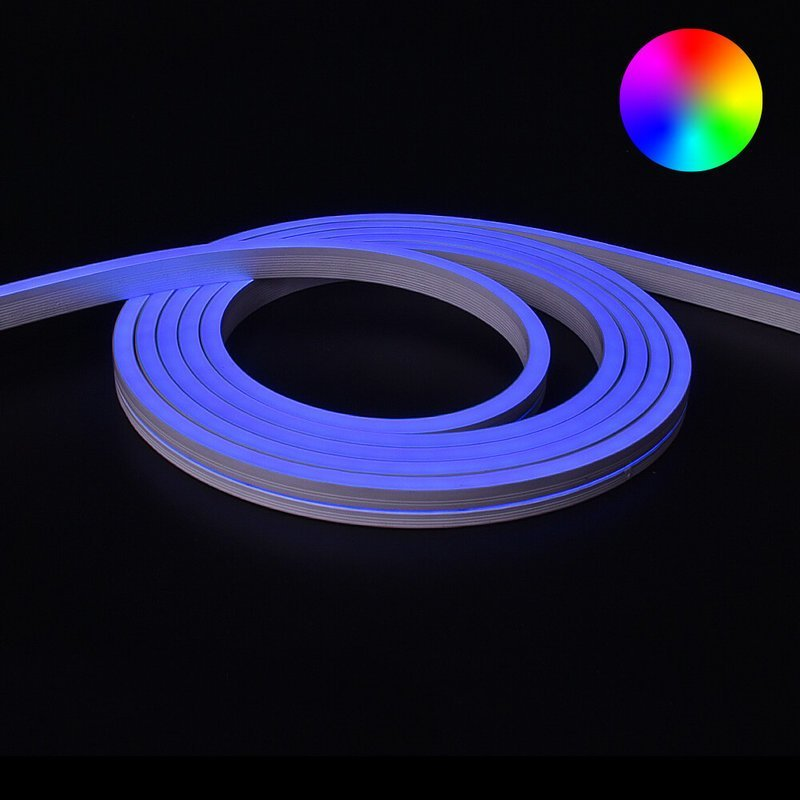 RGB Neon Led Flex maxi recht 4 meter - losse strip
