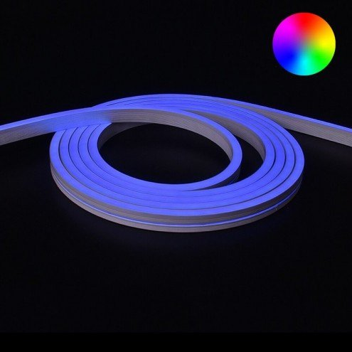 RGB Neon Led Flex maxi recht 7 meter - losse strip
