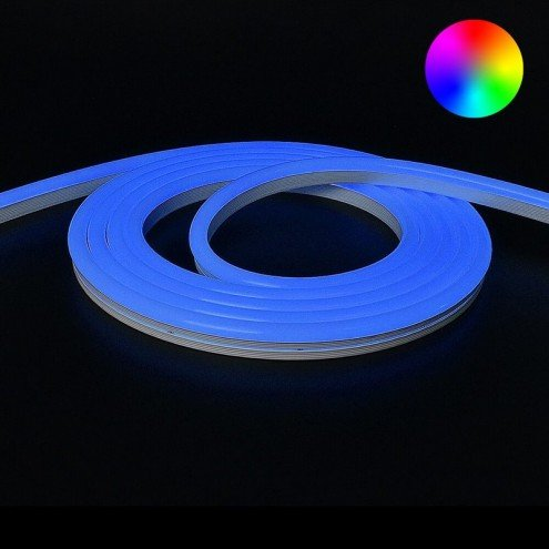 RGB Neon Led Flex maxi rond 6 meter - losse strip