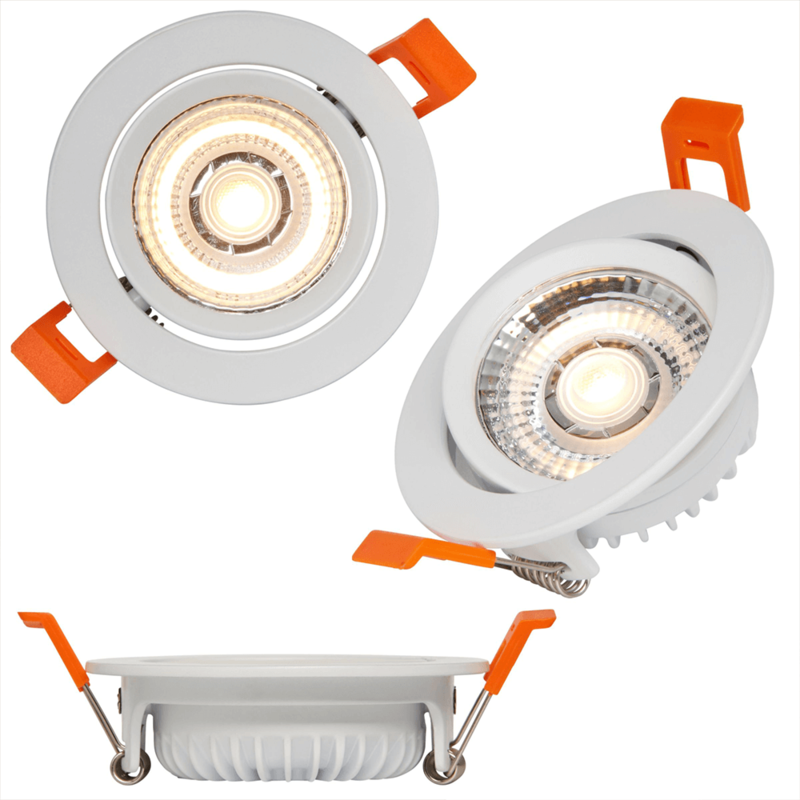 Set van 3 extra platte led inbouwspots van Innr - Slimme led spots Warm Wit - Bediening via de Hue app