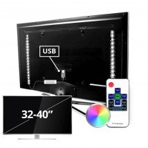 TV led strip set met 2 RGB strips voor TV's van 32 tot 40 inch