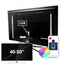 TV led strip set met 2 RGB strips voor TV's van 40 tot 50 inch