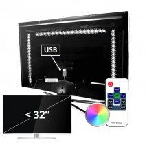 TV led strip set met 3 RGB strips voor TV's tot 32 inch