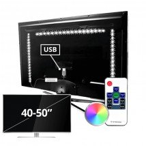 TV led strip set met 3 RGB strips voor TV's van 40 tot 50 inch