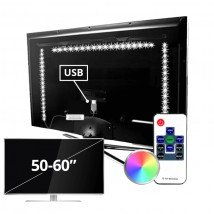 TV led strip set met 3 RGB strips voor TV's van 50 tot 60 inch