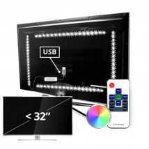 TV led strip set met 4 RGB strips voor TV's tot 32 inch