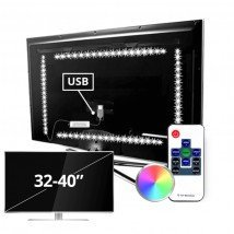 TV led strip set met 4 RGB strips voor TV's van 32 tot 40 inch