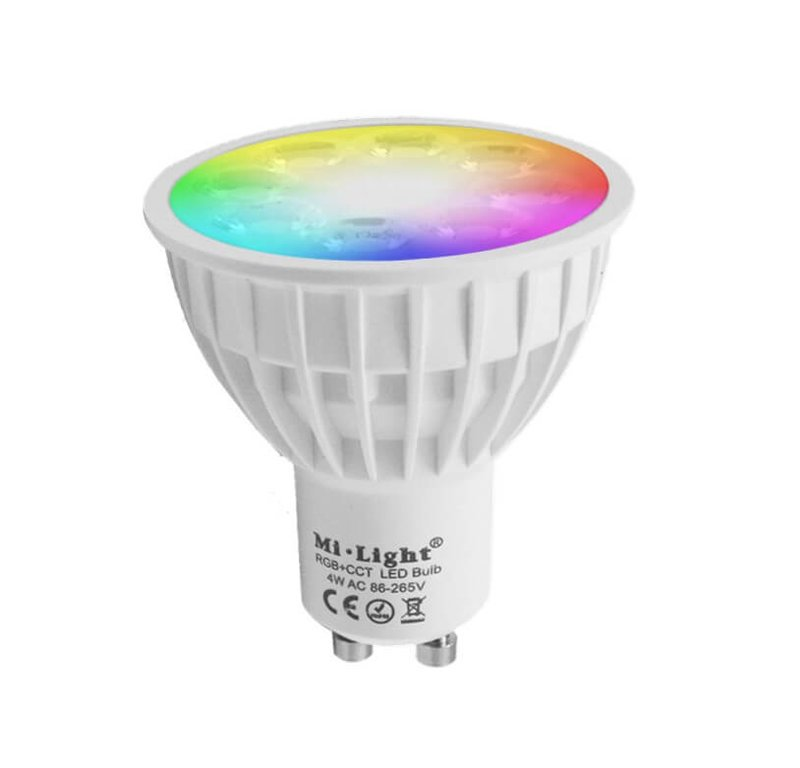 WIFI LED spot RGBWW 4W GU10 fitting