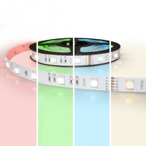 5 meter RGBW led strip Basic met 180 leds - losse strip