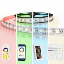 15 meter RGBW led strip complete set - Premium 1080 leds