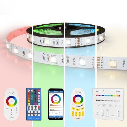 17 meter RGBW led strip complete set - Basic 612 leds